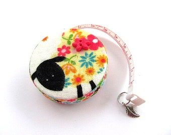 Tape Measure Flannel Flower Sheep Retractable Measuring Tape