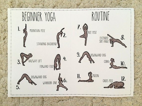 Exceptional image for printable yoga routine