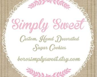 Honey Bee Baby Shower Cookies