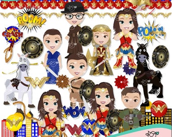 Wonder Woman Clipart instant download PNG file - 300 dpi