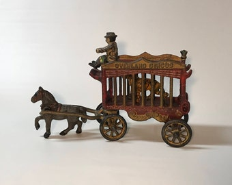 Iron Art Overland Circus Wagon with Tiger, JM109