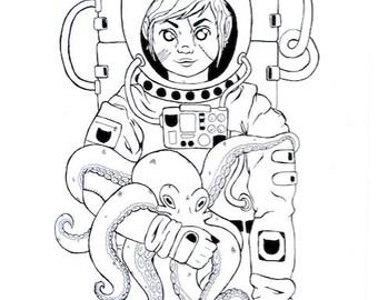 The Weird Art of Naomi B. Coloring Book