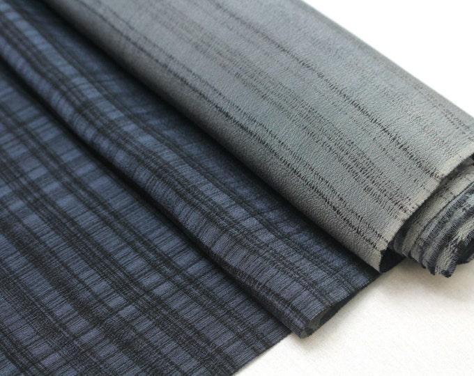 Vintage Japanese Silk. Artisan Made Hand Dyed Fabric. Kimono Araihari Silk (Ref: 1547D)