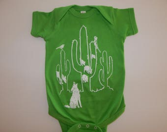 Baby one-piece Saguaro DESERT DWELLERS, Newborn-24 mos