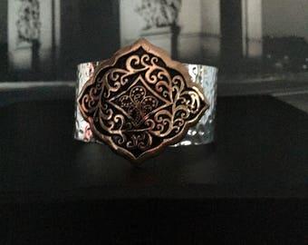Hammered metal bracelet