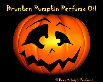 DRUNKEN PUMPKIN Perfume Oil: Pumpkin, cinnamon, clove, rum, deep dark resins, black amber, cream, Halloween Perfume, Fall Fragrance