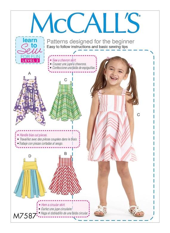 ROPA de niña patrón / hacer Vestido de Jersey Vestido de