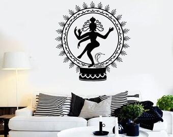 Wall Vinyl Decal Shiva Hinduism God Of Death Cool Decor 2325di