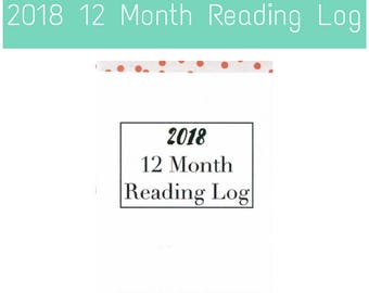 2018 12 Month Reading Log Zine - A Reading Journal for Bookworms and Book Bloggers to Track Books Read & Thoughts for Book Reviews