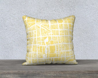 Beijing Map Pillow Cover