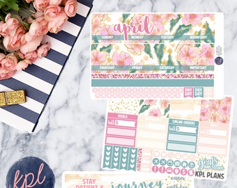 April Monthly Planner Sticker Kit. Perfect for Erin Condren Life Planners! APRIL
