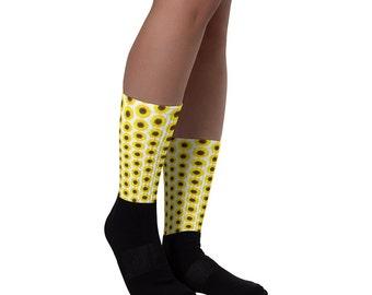 Sunflower Socks - Custom Socks - Flower Socks - Plant Socks - Nature Socks - Christmas Socks