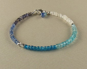 Confusion & Clarity Bracelet with Iolite, Kyanite, Apatite and Moonstone