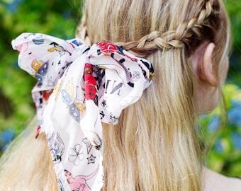 Pin Up Tattoo Head Scarf, Rockabilly Hair Accessory, Rockabilly Hair Scarf, Retro Vintage Hair Tie, Pin Up Girl Hair Accessory