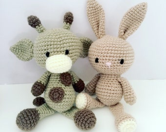 READY TO SHIP Bunny Amigurumi Bunny Newborn Gift Baby Toy Baby Shower Gift