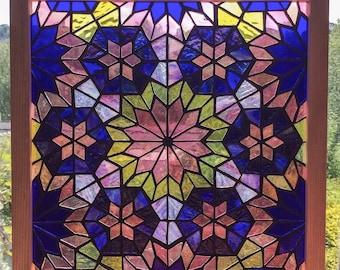 Six Stars - original stained glass mosaic