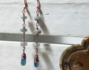 London Blue Topaz Drop Earrings