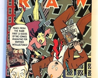 World Cup of Sales Rare Signed Art Spiegelman Read Yourself RAW 1987 Charles Burns Kaz Gary Panter Joost Swarte, etc. Underground Comics