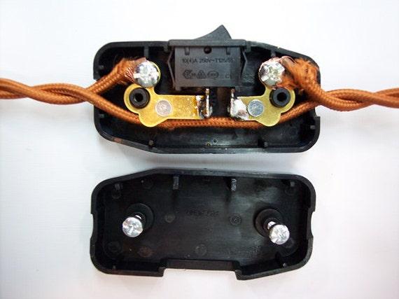 Schnur Schalter schwarz Leviton Inline Feed-Thru Switch