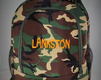 Monogrammed Camo Backpack, Camo Backpack, Personalized Camo Backpack, Monogrammed Camo Backpack, Backpacks, Camouflage backpack, camouflage