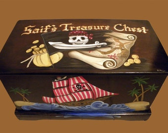 PIRATE TOY BOX Custom Designed For You