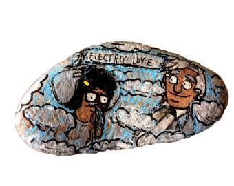 "Bob's Burgers Art- Painted Rock - Handpainted stone, Large, Topsy the Elephant, Thomas Edison ""Electric Love"" Tina Belcher, Gene Belcher"