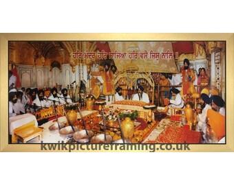 Sri Harmandir Sahib Golden Temple Amritsar Punjab Inside Darbar Sahib In Size – 40″ X 20″ Inches