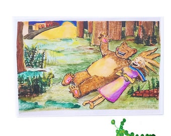Amazing Bear Dream postcard