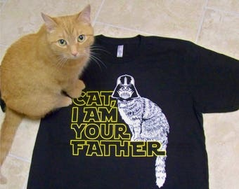 CAT Tshirt  Real Men Love Cats t-shirt American Apparel tee This guy Love His Cat funny tshirt, cat, cats, cat I am your father, star wars