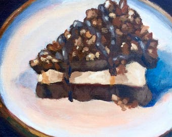 Turtle Pie, Food Art, Desserts, Sweets, Chocolate, kitchen art, kitchen, chocolate painting