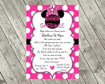 Minnie Baby Sprinkle Invitation