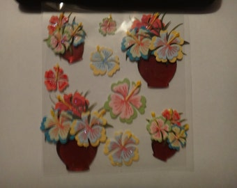 Free Shipping!!  Jolee's Boutique Tropical Arrangements SPJB266 - New in Package - Scrapbooking Embellishments - Stickers - Cards  - SNSC