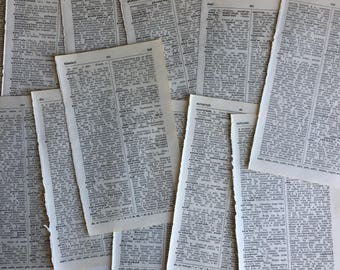 vintage dictionary encyclopedia pages, antique English dictionary pages for paper crafting