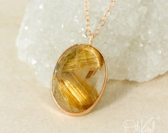 Golden Rutile Quartz Necklace – Choose Your Pendant
