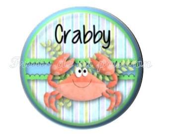 1 round cabochon 30 mm, animal, crab