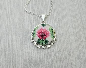 Vintage Embroidered Necklace