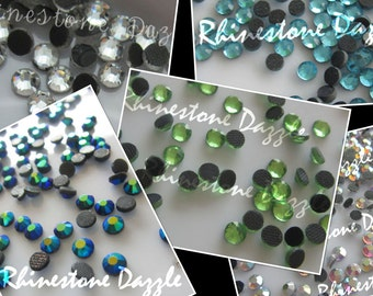 2500pcs ss16 Hotfix Crystal Rhinestones, 2500pcs 4mm Hotfix Crystal Rhinestones, 5 colors 500pcs each color,