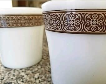 Rare Pyrex Mocha Pattern Mugs Set of 4