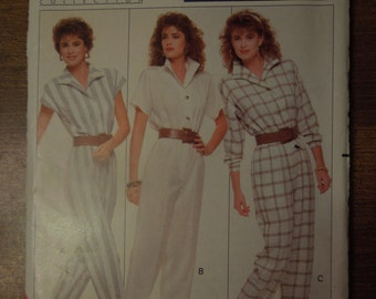 Butterick 6087, sizes 12-16, jumpsuit, misses, womens, UNCUT sewing pattern, craft supplies