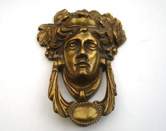Brass Bacchus Vintage Door Knocker