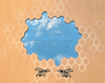 Honeybees Vow Commemoration or Ketubah