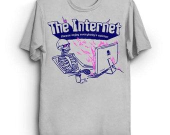 Le T-Shirt Internet - drôle Tee Shirt cadeau pour Geek Internet ordinateur Tumblr Instagram Blogger Blogging