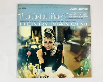 Breakfast at Tiffany's - Vintage Vinyl Record LP LSP-2362 - 1961 - A Paramount Picture ft. Audrey Hepburn Conducted by Henry Mancini