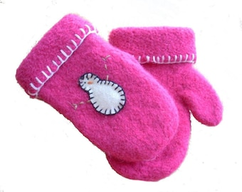 Kid's Felted Wool Mittens-Easy Knitting Patterns-Hat Knitting Patterns-Easy Mitt Patterns-Mitten Knitting Patterns-Mitten Patterns
