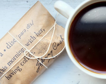 Coffee Wedding Favors. 100 Custom wedding favors for your special day. Unique and made with love.