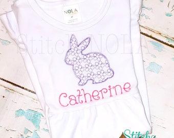 Daisy motif BUNNY, Vintage Bunny, Easter Shirt, Vintage Easter Shirt