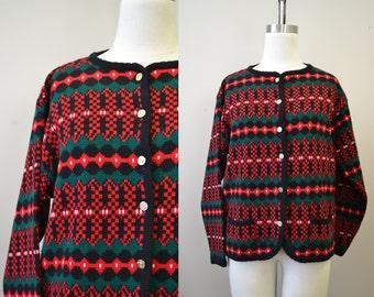 1980s Tally-Ho Cardigan Sweater
