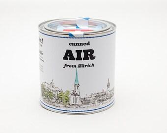 Original Canned Air From Zurich, Switzerland, gag souvenir, gift, memorabilia