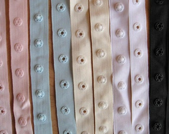Snap Tape Polyester Ribbon Made in France, Baby Gifts Handmade, DIY
