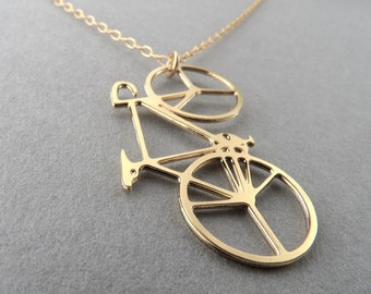 bicycle necklace bicycle jewelry cycling bike jewelry bicycle art pendant bike gift